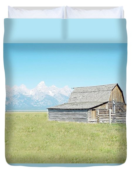 Mormon Row Barn - Grand Tetons Duvet Cover by Joseph Hendrix