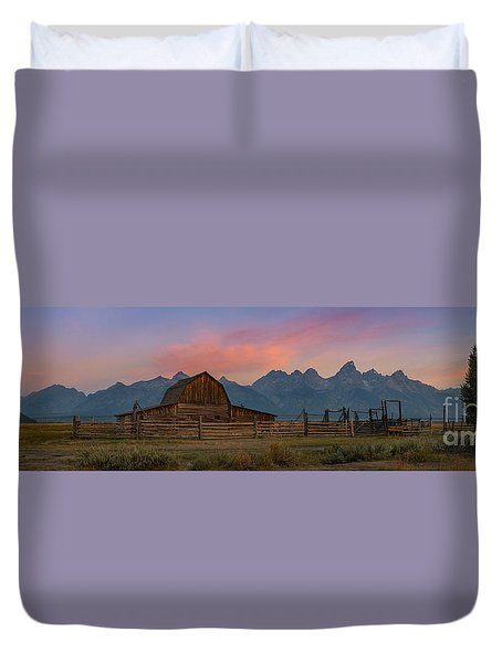 Mormon Row Sunrise Panorama Duvet Cover