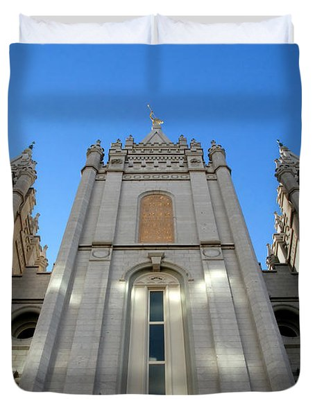 Mormon Temple Duvet Cover by David Lee Thompson