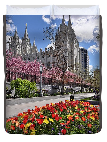 Mormon Temple Duvet Cover