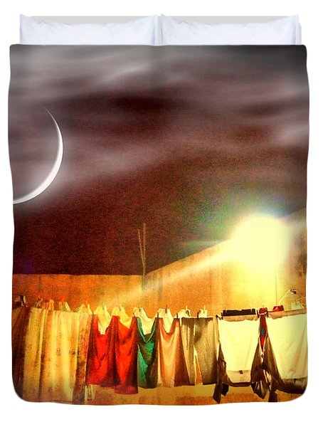 Duvet Cover featuring the photograph Morn by Beto Machado