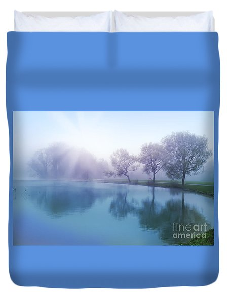 Duvet Cover featuring the photograph Morning by Ariadna De Raadt