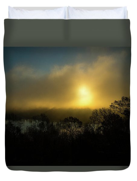 Duvet Cover featuring the photograph Morning Arrives by Karol Livote
