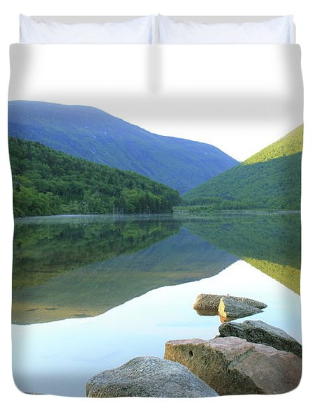 Duvet Cover featuring the photograph Morning At Echo Lake by Roupen  Baker