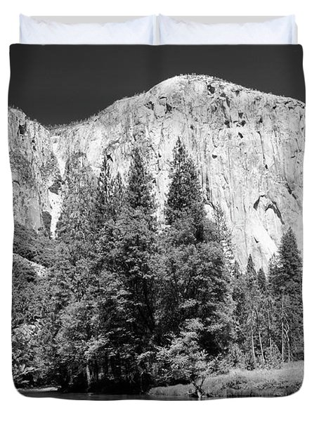 Duvet Cover featuring the photograph Morning At El Capitan by Sandra Bronstein