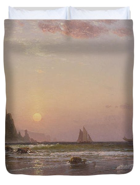 Morning At Grand Manan Duvet Cover by Alfred Thompson Bricher