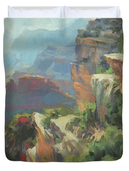 Morning At Hopi Point Duvet Cover