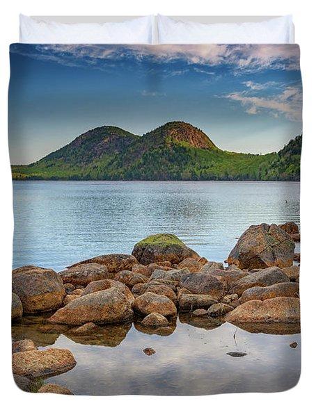 Morning At Jordan Pond Duvet Cover by Rick Berk