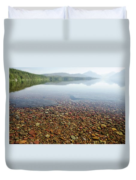 Morning At Lake Mcdonald Duvet Cover