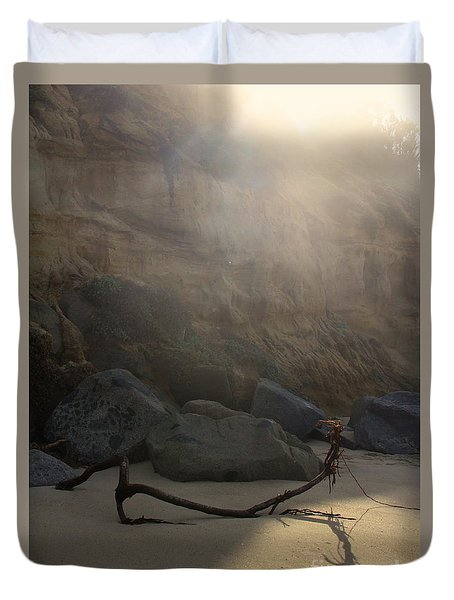 Duvet Cover featuring the photograph Morning At Moonlight by Suzanne Oesterling