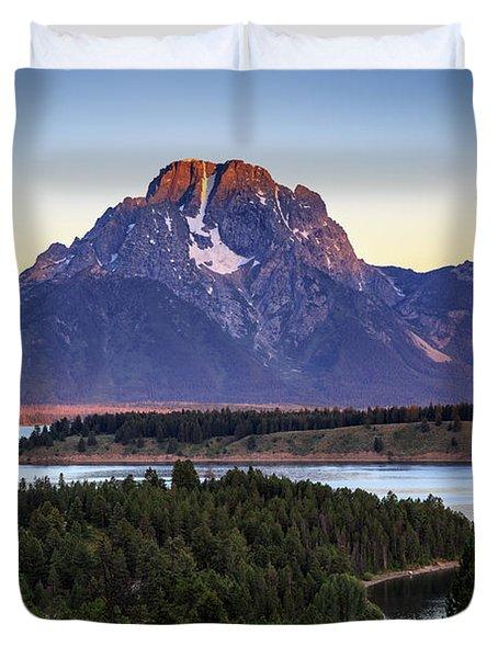 Morning At Mt. Moran Duvet Cover