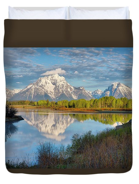 Morning At Oxbow Bend Duvet Cover