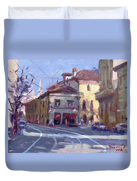 Morning At Padua Italy Duvet Cover