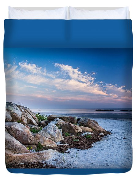 Morning At The Beach Duvet Cover