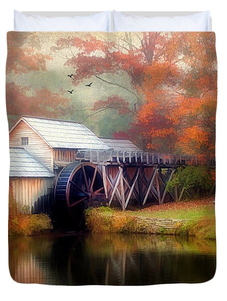 Morning At The Mill Duvet Cover by Darren Fisher