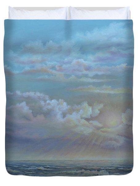 Morning At The Ocean Duvet Cover