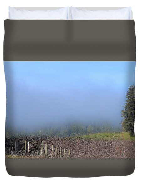 Morning At The Vinyard Duvet Cover