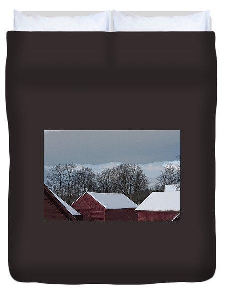 Morning Barnscape Duvet Cover