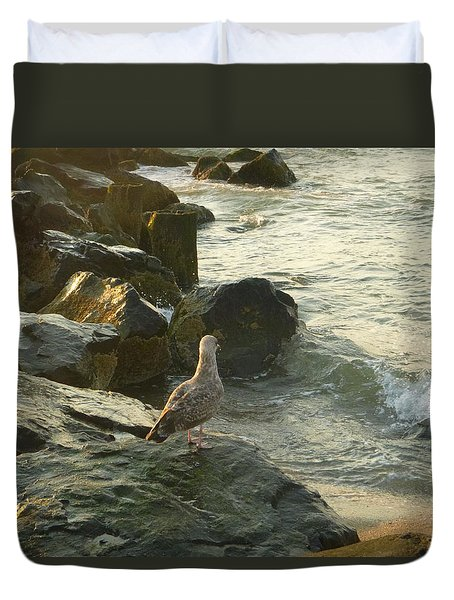 Morning Bird Duvet Cover