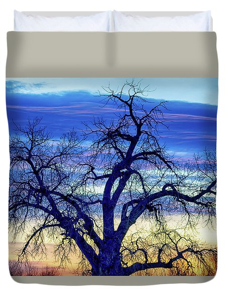 Duvet Cover featuring the photograph Morning Blues by James BO Insogna