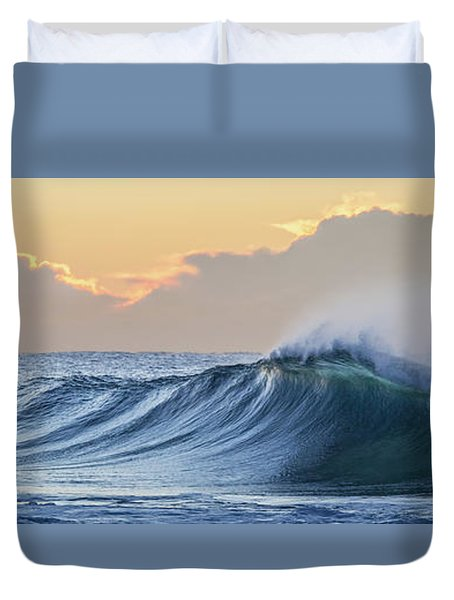 Duvet Cover featuring the photograph Morning Breaks by Az Jackson
