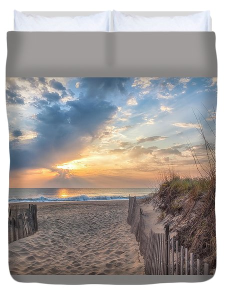 Morning Breaks Duvet Cover by David Cote