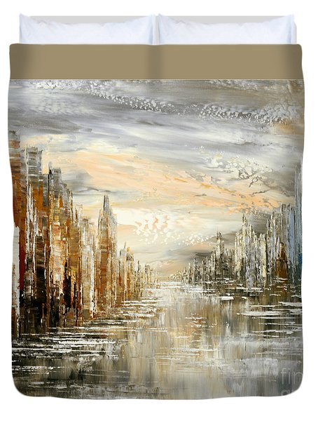 Morning By The Sea Duvet Cover