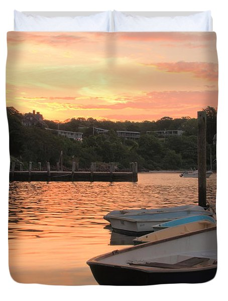 Duvet Cover featuring the photograph Morning Calm by Roupen  Baker