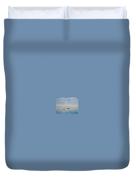 'morning Calm' - West Kirby Marine Lake Duvet Cover by Peter Farrow
