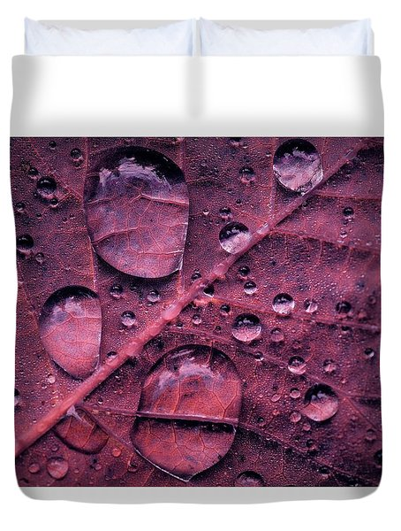 Duvet Cover featuring the photograph Morning Catch by Gene Garnace