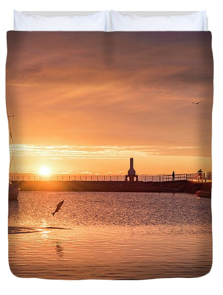 Morning Catch Duvet Cover