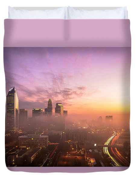 Morning Charlotte Rush Hour Duvet Cover by Serge Skiba