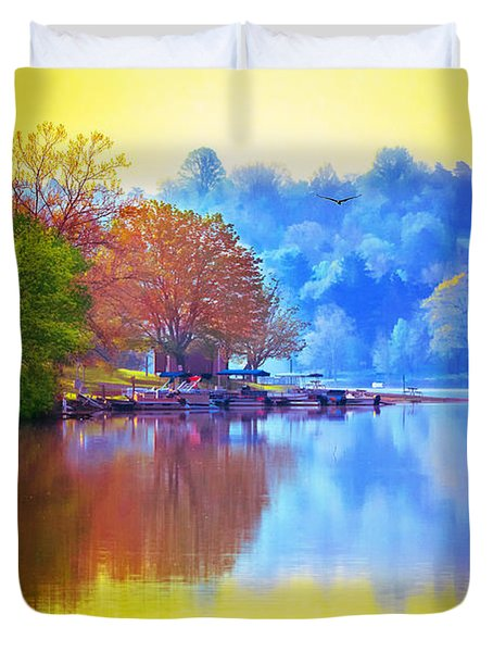 Morning Colors Duvet Cover by Brian Stevens