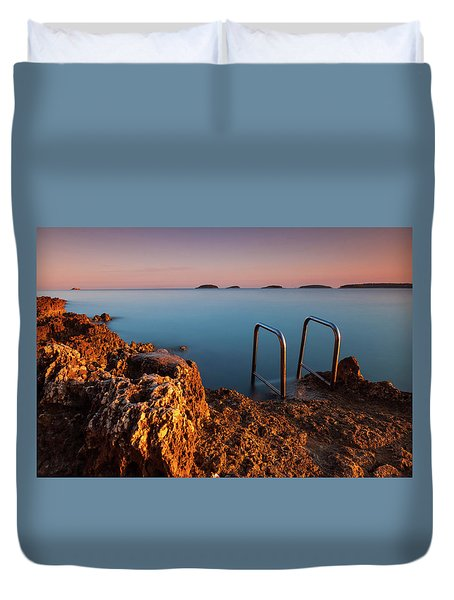 Duvet Cover featuring the photograph Morning Colors by Davor Zerjav