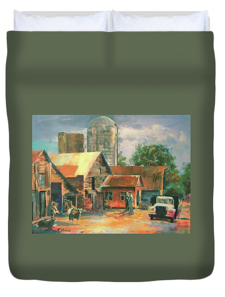 Morning Conference Duvet Cover by Carol Strickland