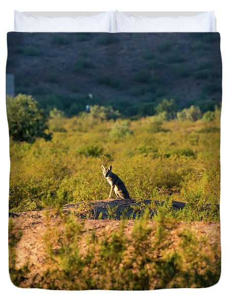 Morning Coyote Duvet Cover
