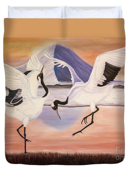 Morning Dance Duvet Cover by Jane Axman