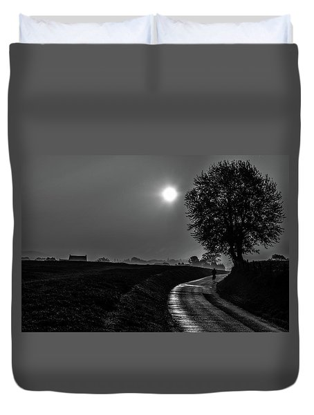 Morning Dew Bw Duvet Cover