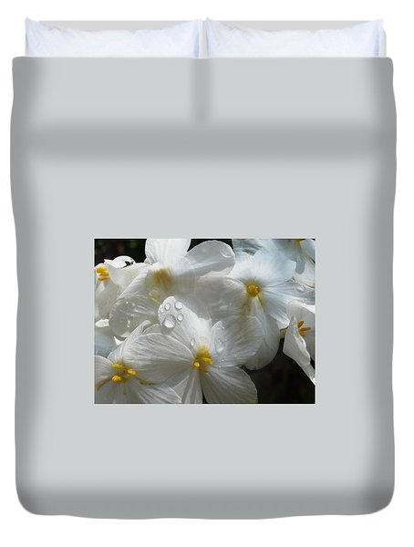 Duvet Cover featuring the photograph Morning Dew by Martha Ayotte