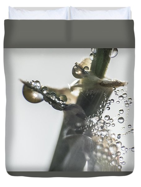 Morning Dew On A Web Duvet Cover