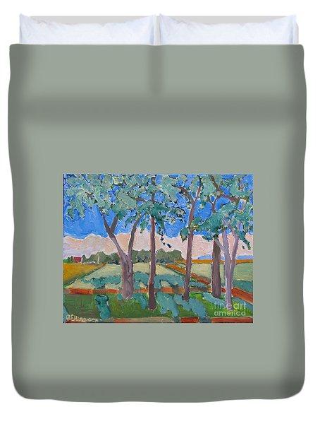 Morning Fields Duvet Cover
