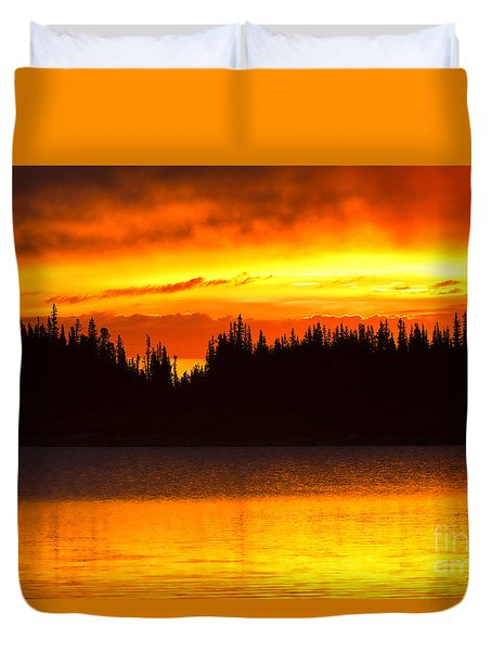 Morning Fire Duvet Cover