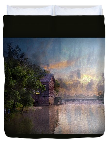 Duvet Cover featuring the photograph Morning Fishing  by Joel Witmeyer