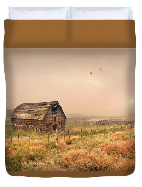 Duvet Cover featuring the photograph Morning Flight by John Poon