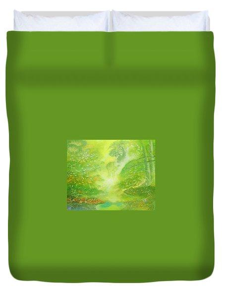 Morning Flora Duvet Cover