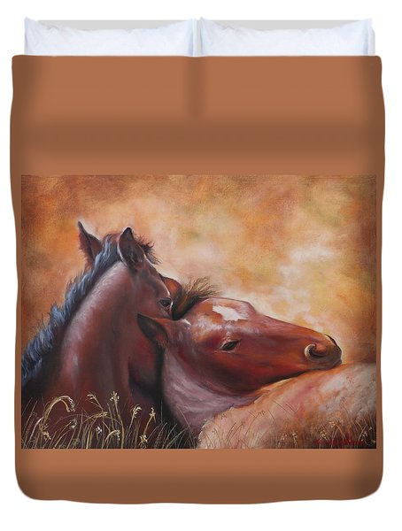 Morning Foals Duvet Cover
