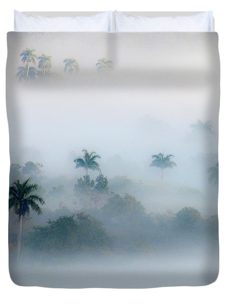 Morning Fog, Vinales Valley Duvet Cover