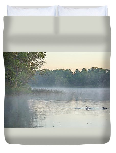 Morning Gathering Duvet Cover