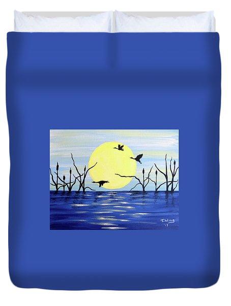 Morning Geese Duvet Cover