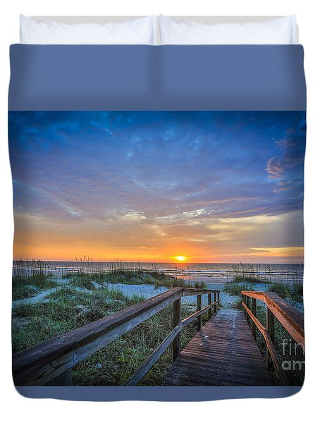 Morning Glory 2 Duvet Cover by Mina Isaac